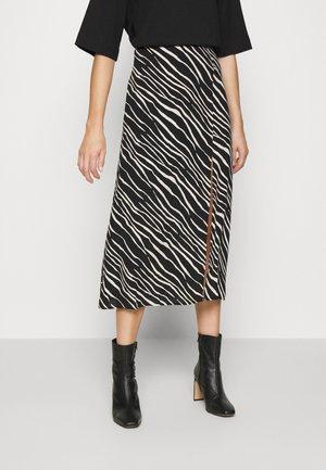 PRINTED SKIRT - A-line skirt - beige