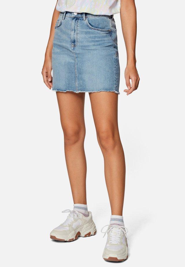 EVELYN - Denim skirt - light blue london str