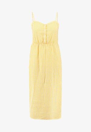 CHECK DRESS - Kjole - golden rod