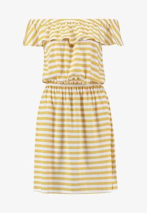 STRIPE DRESS - Jerseykjoler - golden rod