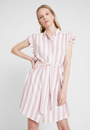 SHORT SLEEVE DRESS - Denim dress - pale mauve