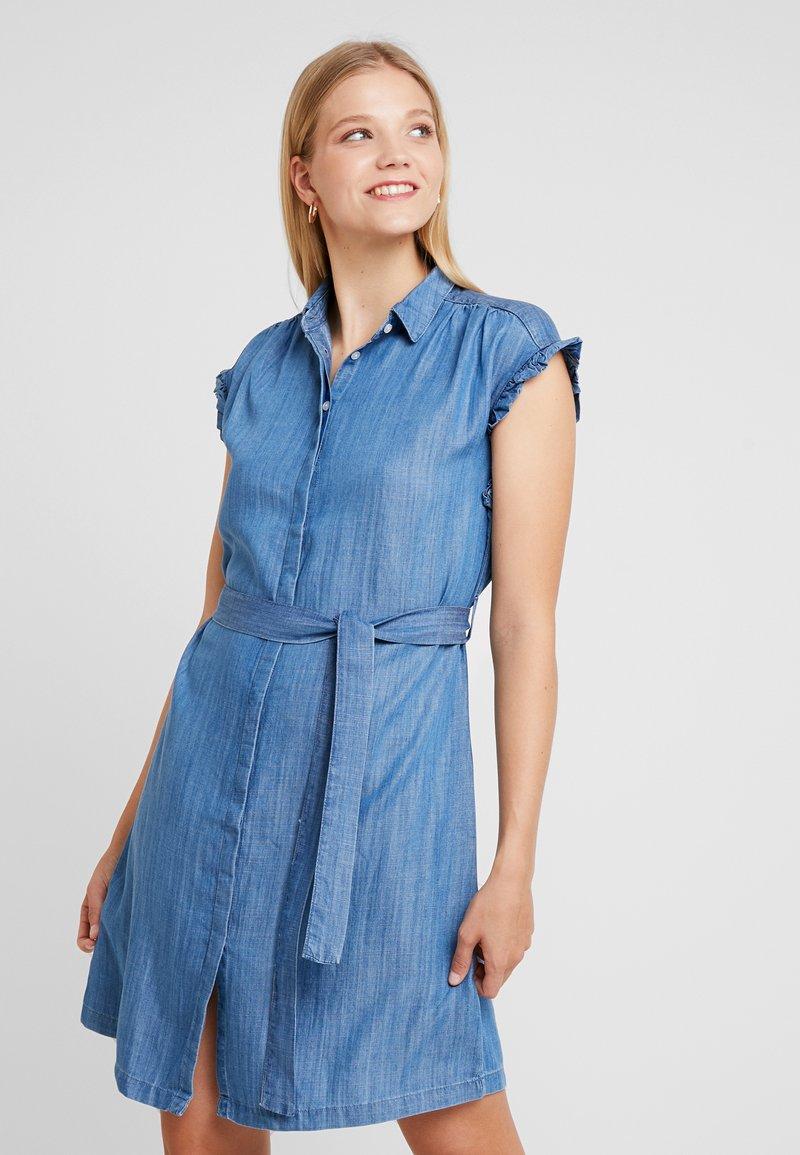 Mavi - SHORT SLEEVE DRESS - Vestido vaquero - light indigo