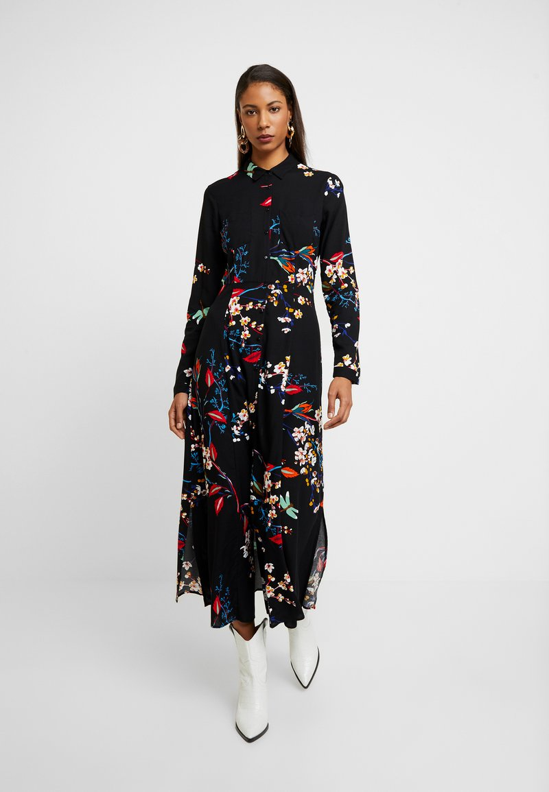 Mavi - PRINTED DRESS - Skjortekjole - black