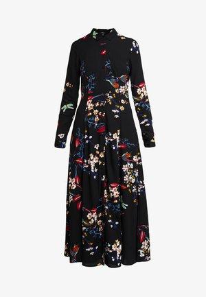 PRINTED DRESS - Košilové šaty - black