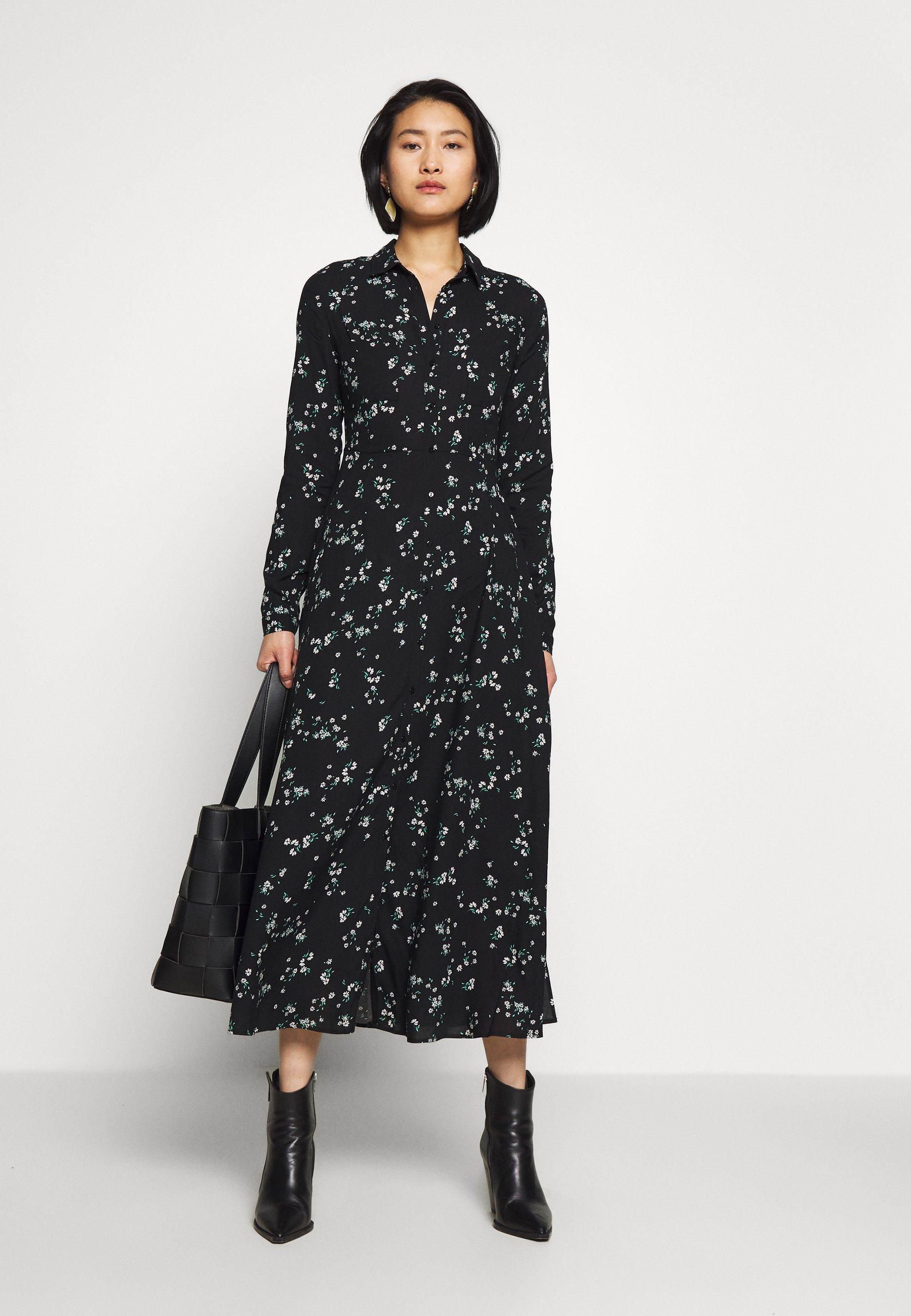 Mavi Printed Dress - Skjortekjole Black
