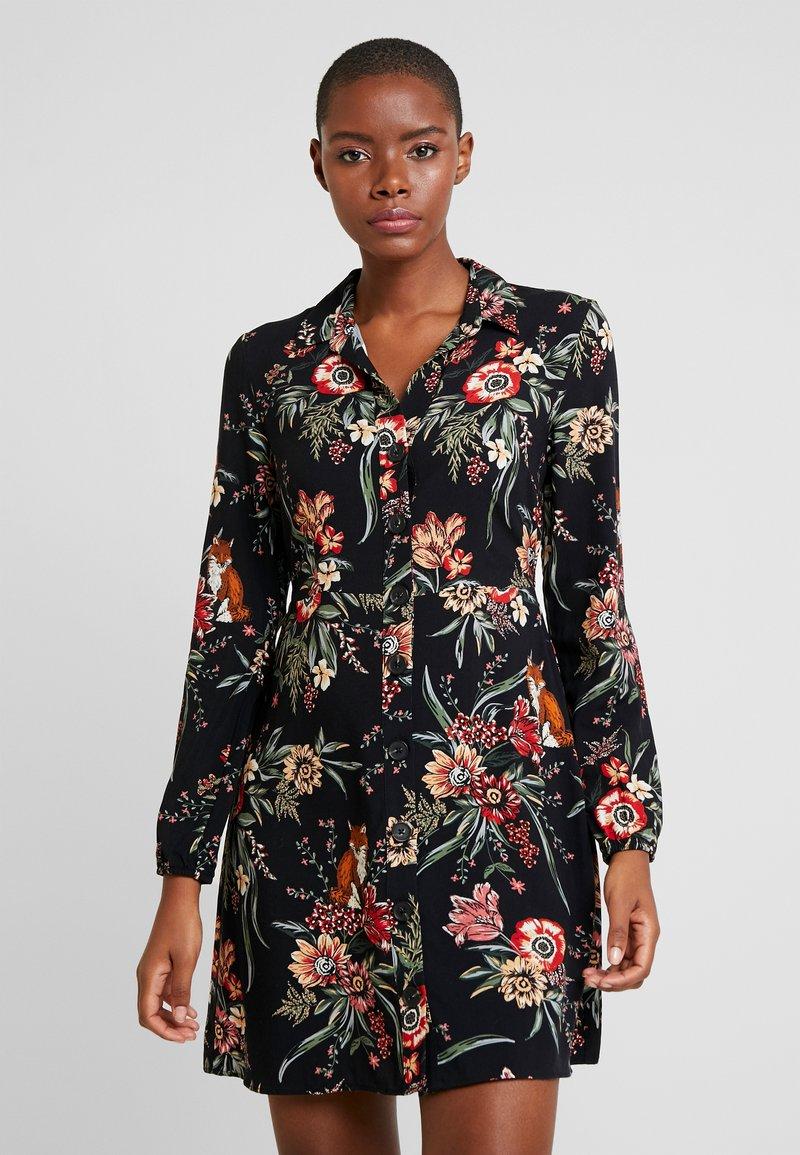 Mavi - LONG SLEEVE DRESS - Shirt dress - black