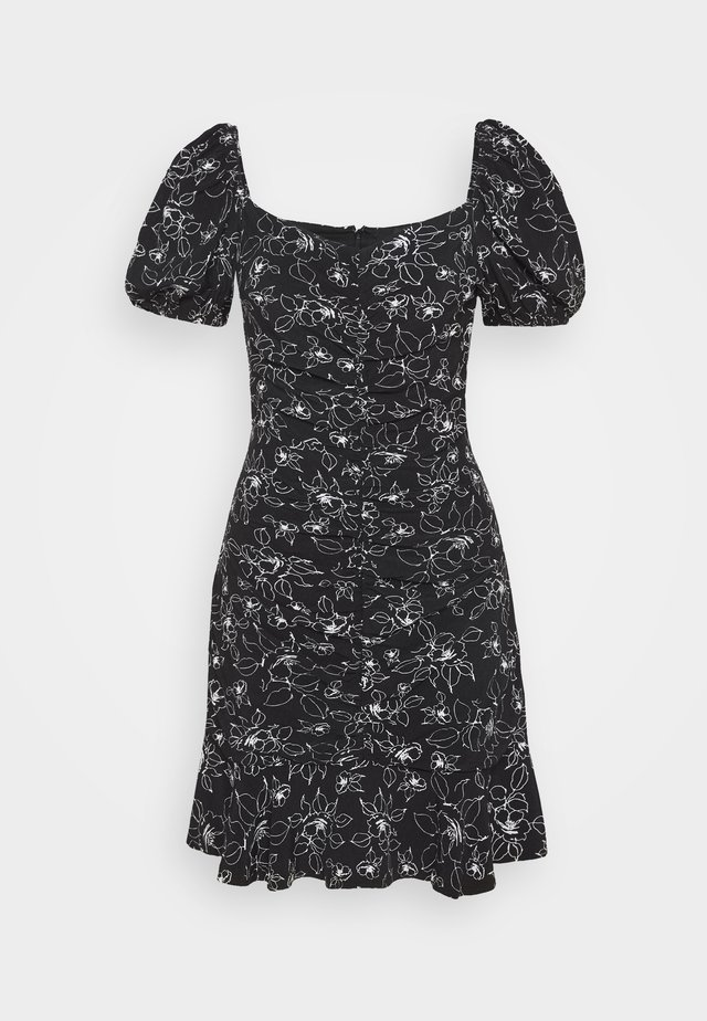 PRINTED DRESS - Freizeitkleid - black
