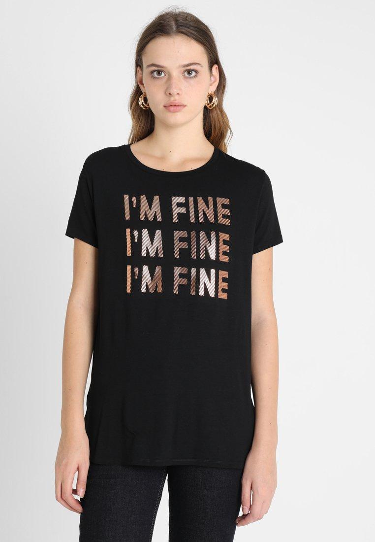 Mavi - I'M FINE  - Print T-shirt - black