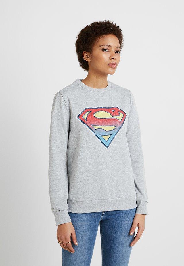 SUPERMAN - Sweatshirts - grey melange