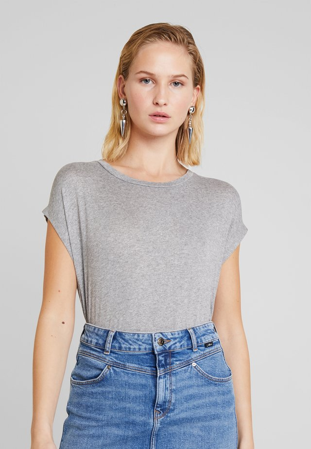 SHORT SLEEVE - T-Shirt print - grey melange