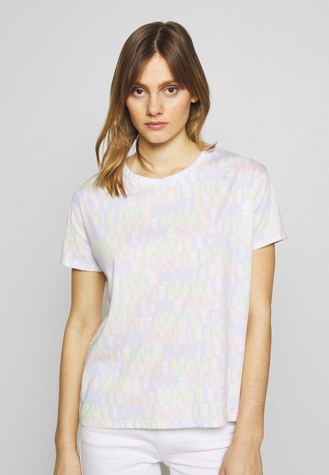 LOVE - T-shirt z nadrukiem - white