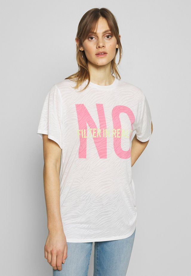 PRINTED TOP - T-shirt con stampa - white