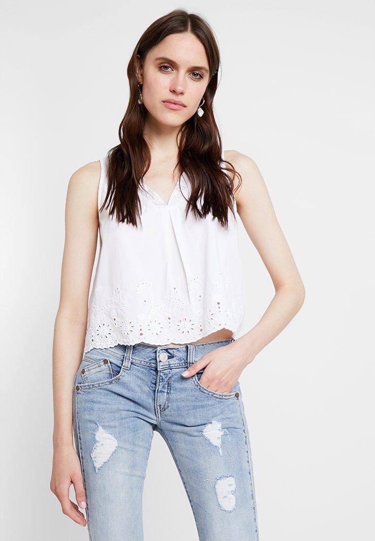 Mavi - EMBROIDERY BLOUSE - Blusa - white