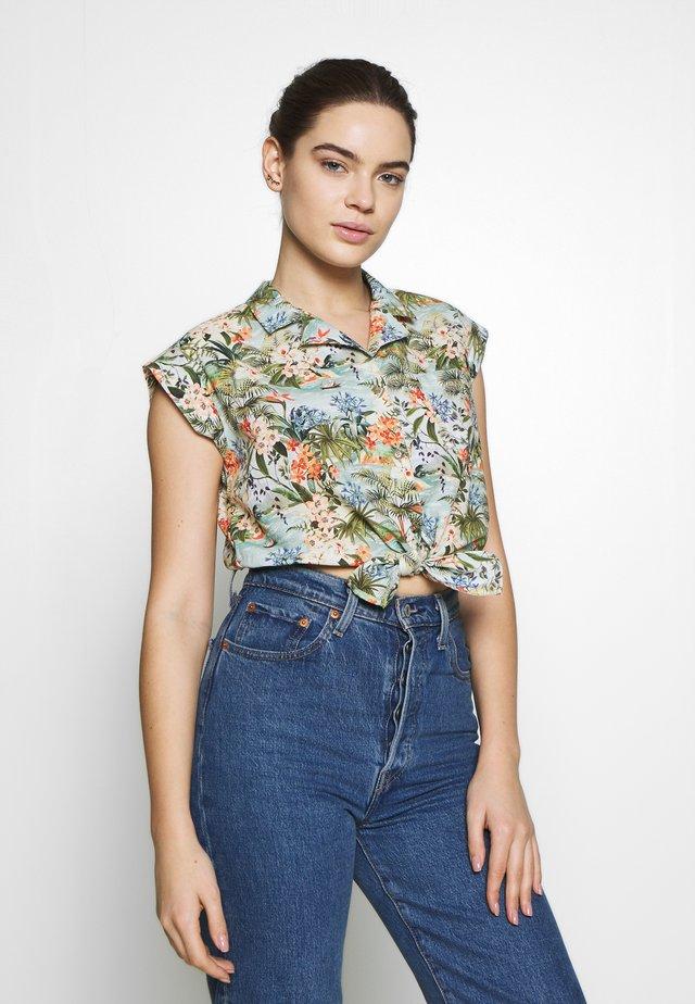 SLEEVELESS - Button-down blouse - lichen