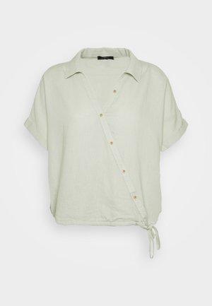 Button-down blouse - sea foam