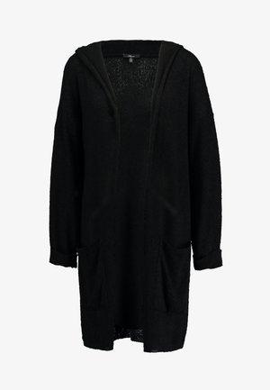 HOODED CARDIGAN - Cardigan - black