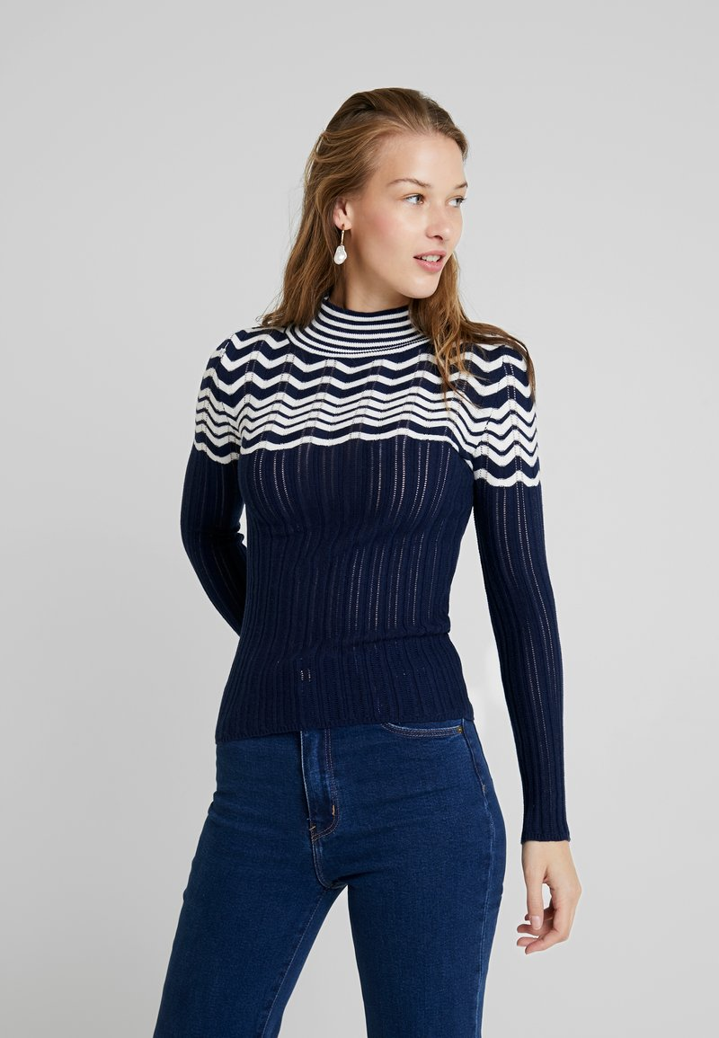 Mavi - STRIPE SWEATER - Strickpullover - blue