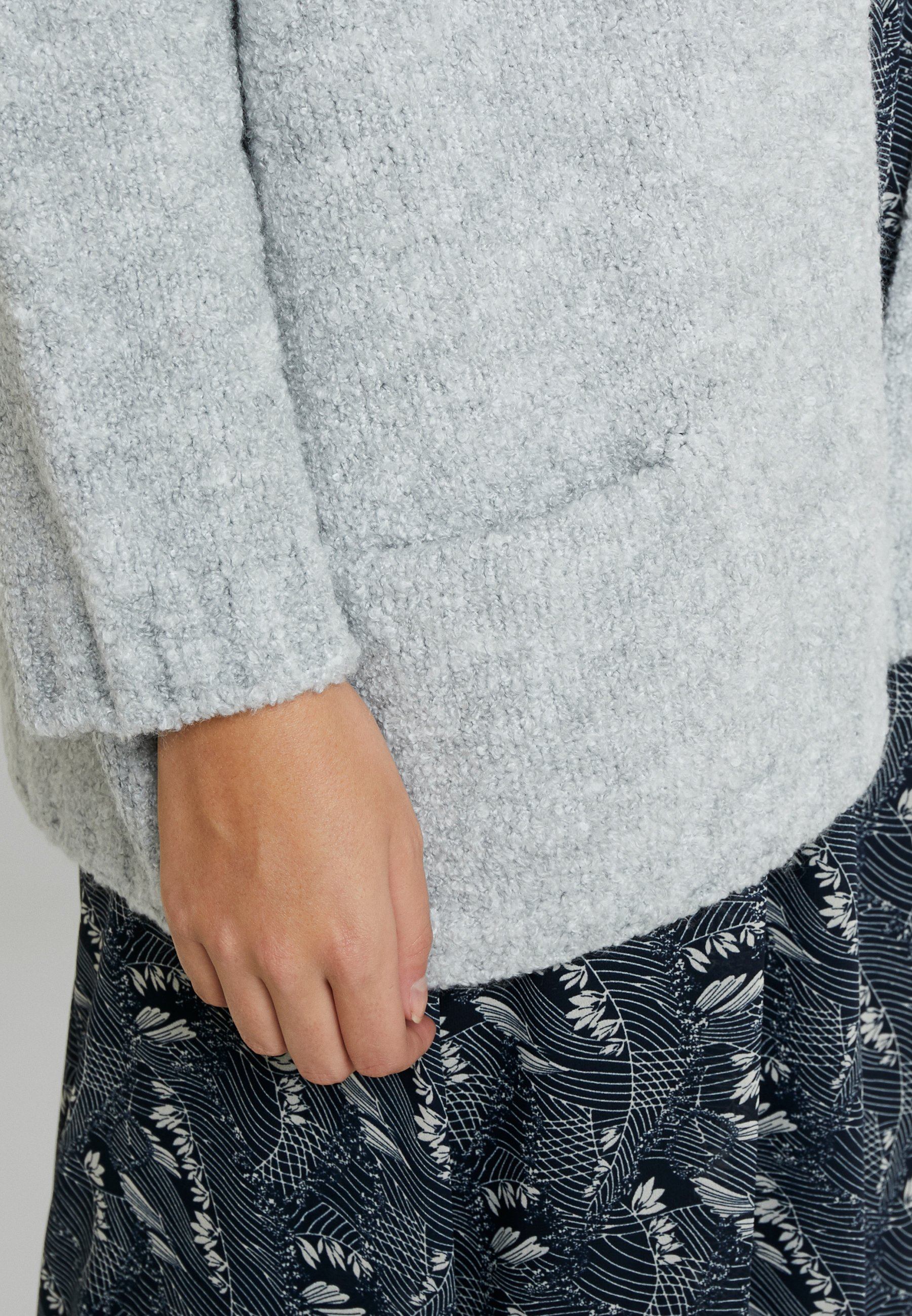 Mavi POCKET CARDIGAN - Cardigan - light grey melange