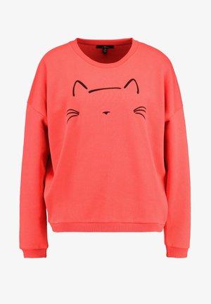 CAT EMBROIDERED - Sweatshirt - tomato