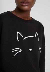 Mavi - CAT EMBROIDERED - Felpa - black - 4