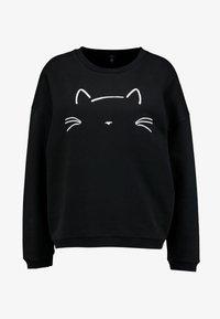 Mavi - CAT EMBROIDERED - Felpa - black - 3