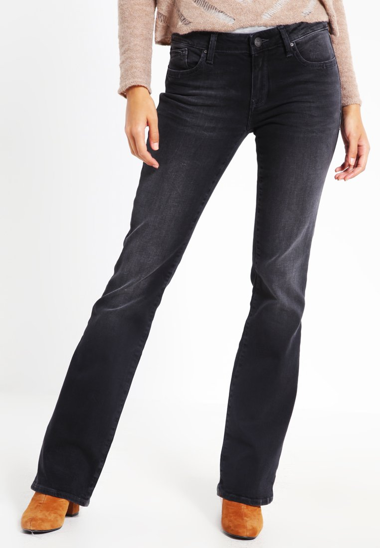 Mavi - BELLA MID RISE - Jeans Bootcut - smoke night