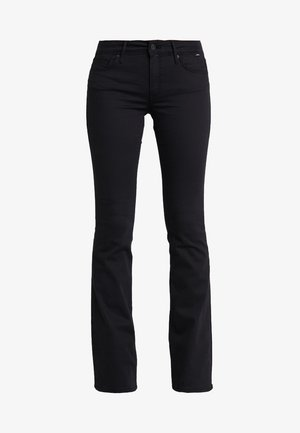 BELLA MID RISE - Jeans bootcut - double black