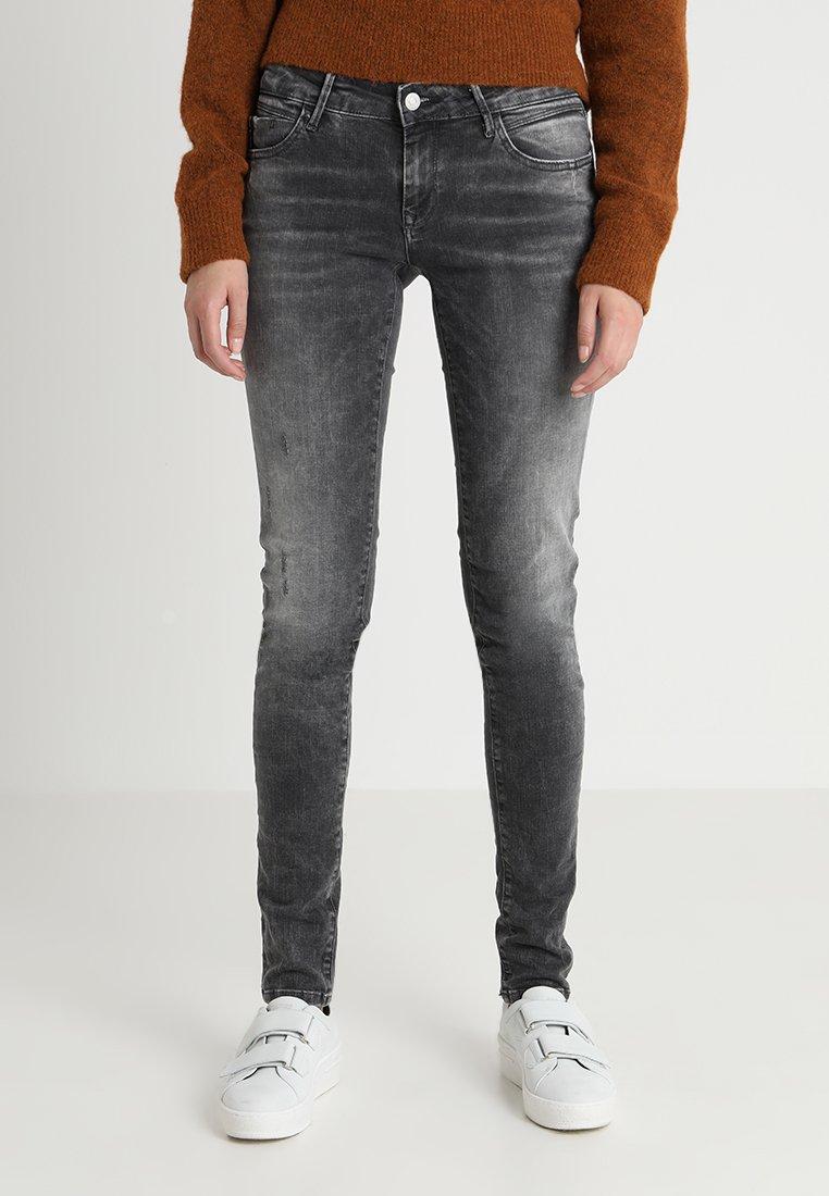 Mavi - SERENA - Jeans Skinny Fit - dark grey distressed glam