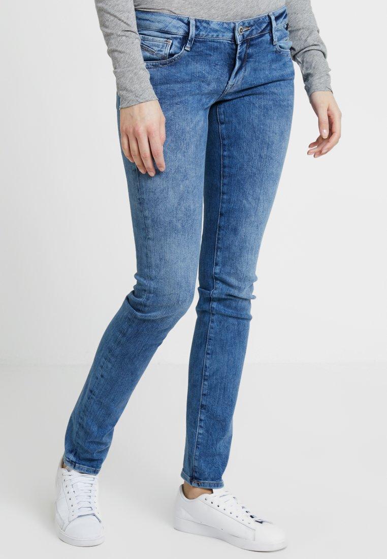 Mavi - LINDY - Jeans Slim Fit - mid crinckled milan