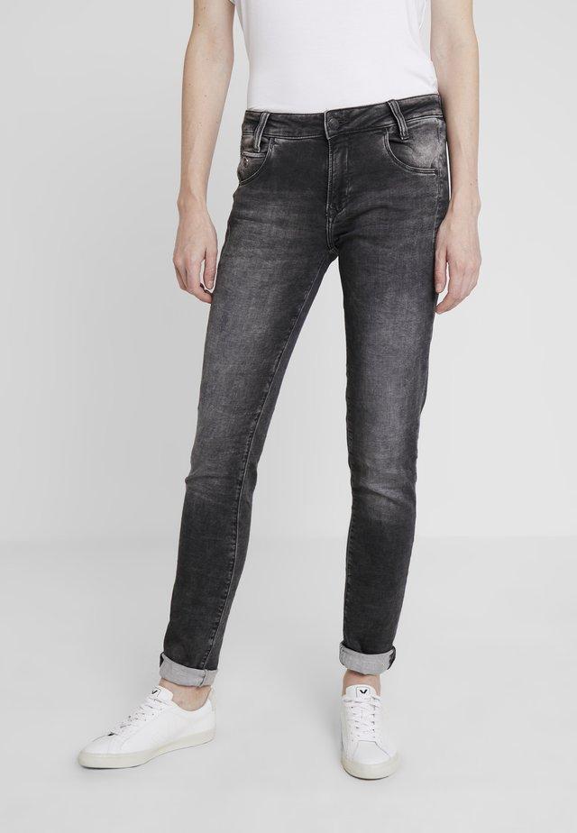 ADRIANA - Jeans Skinny Fit - grey crashed sporty