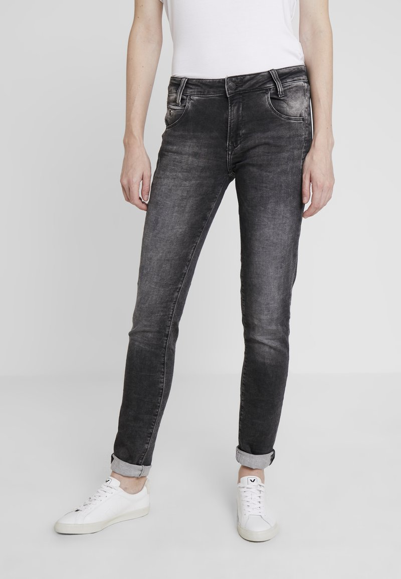 Mavi - ADRIANA - Jeans Skinny Fit - grey crashed sporty
