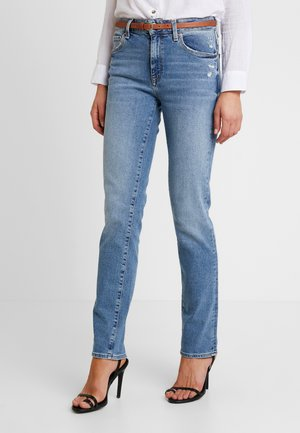 DARIA - Jean droit - used brushed 90's stretch