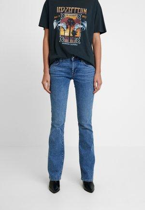 BELLA - Bootcut jeans - indigo retro denim