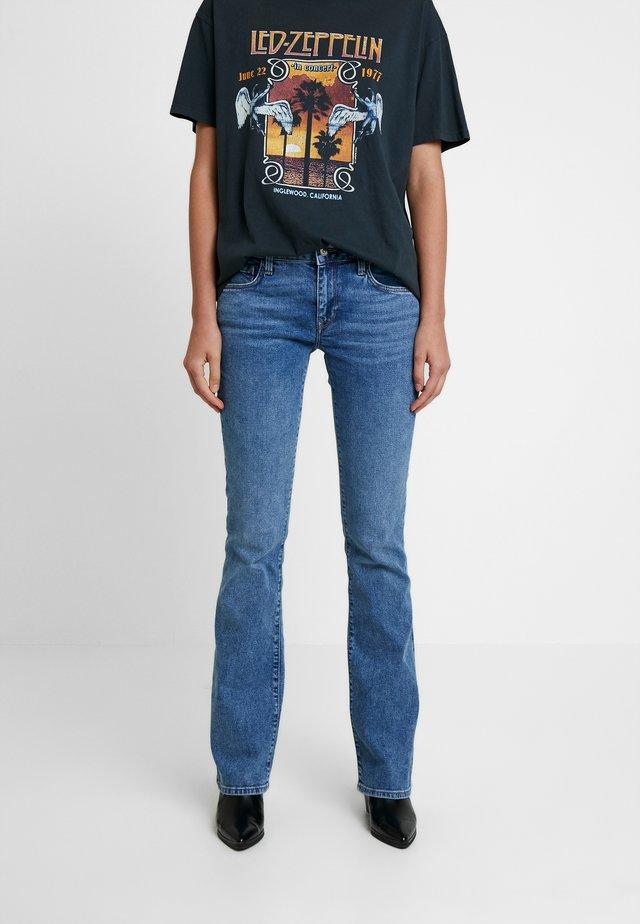 BELLA - Jeans bootcut - indigo retro denim