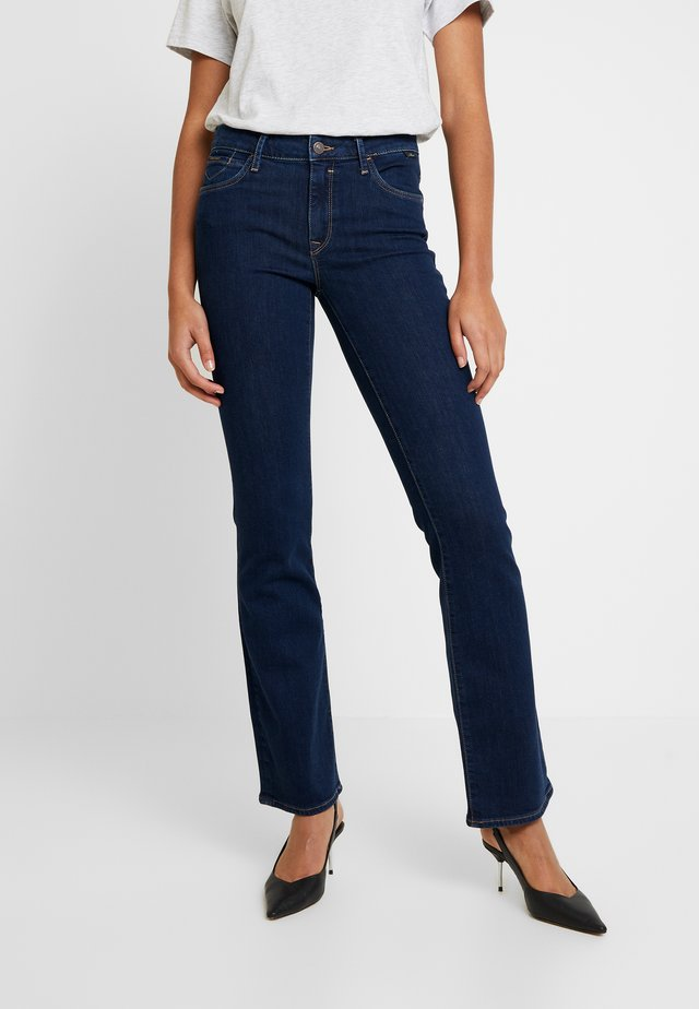 MEL - Jean bootcut - dark blue denim