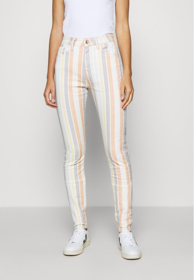 LUCY - Jeans slim fit - multi-coloured/white