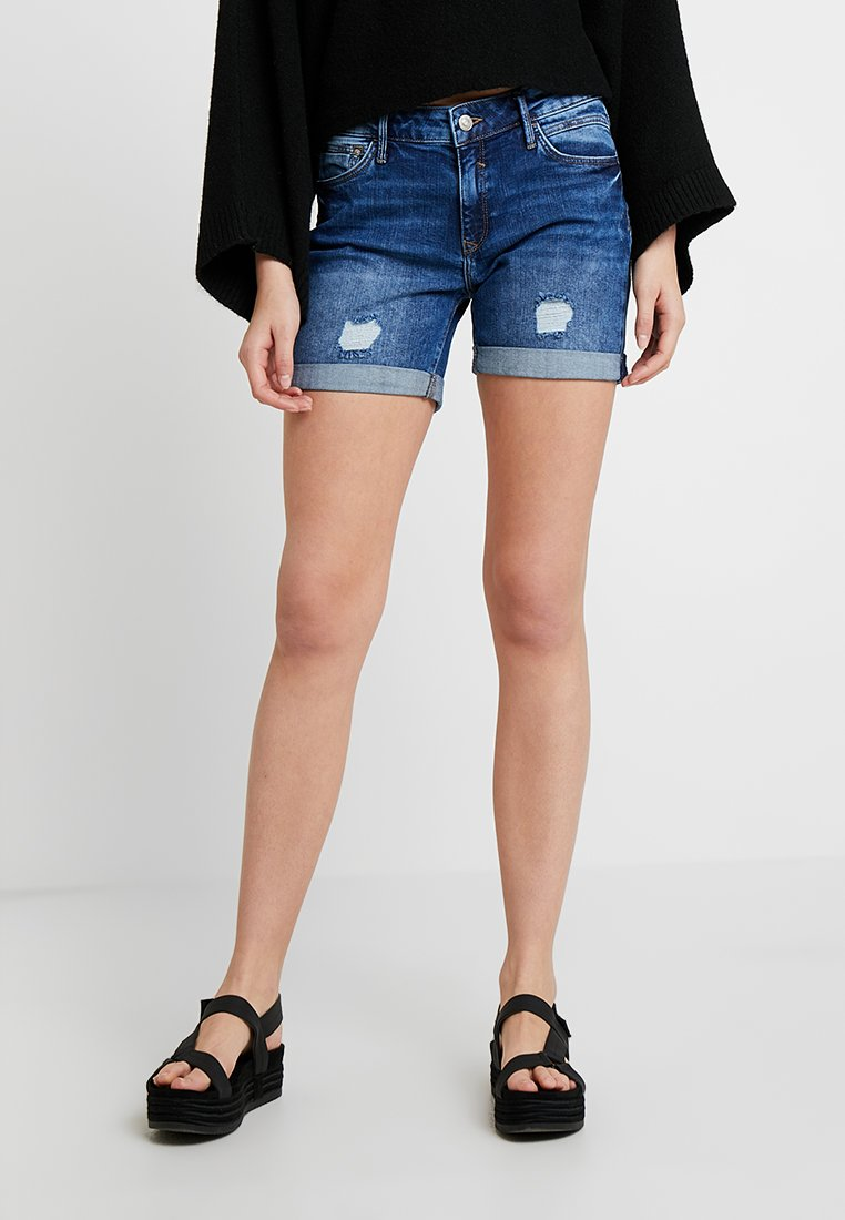 Mavi - PIXIE - Shorts di jeans - mid indigo milan