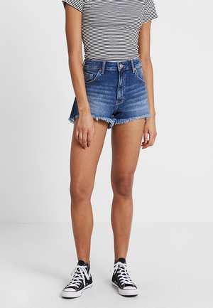 ROSIE - Denim shorts - dark brushed 80's