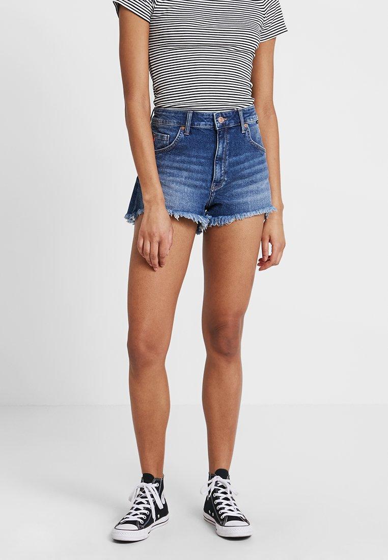 Mavi - ROSIE - Shorts di jeans - dark brushed 80's