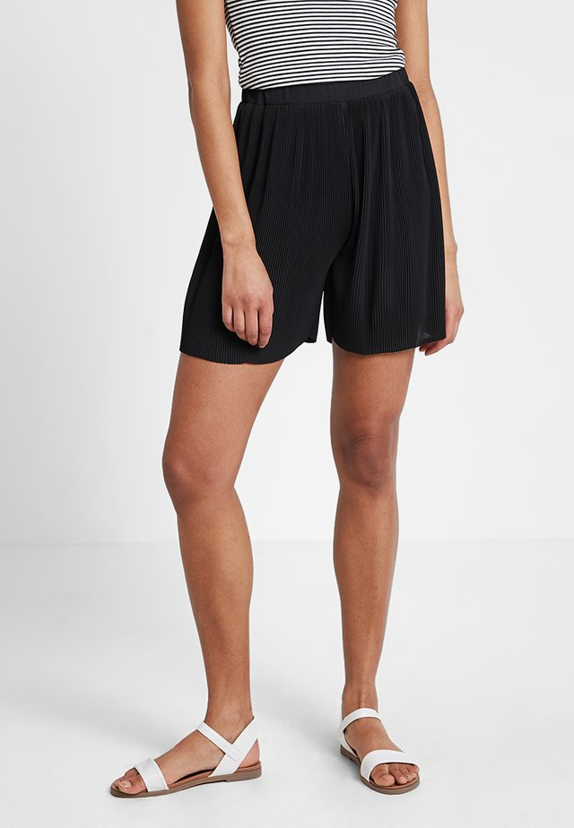 PLEATED - Shorts - solid black