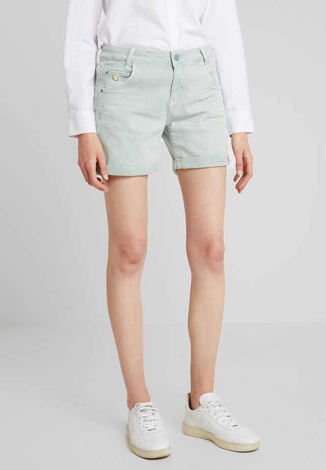 PIXIE - Denim shorts - blue washed denim