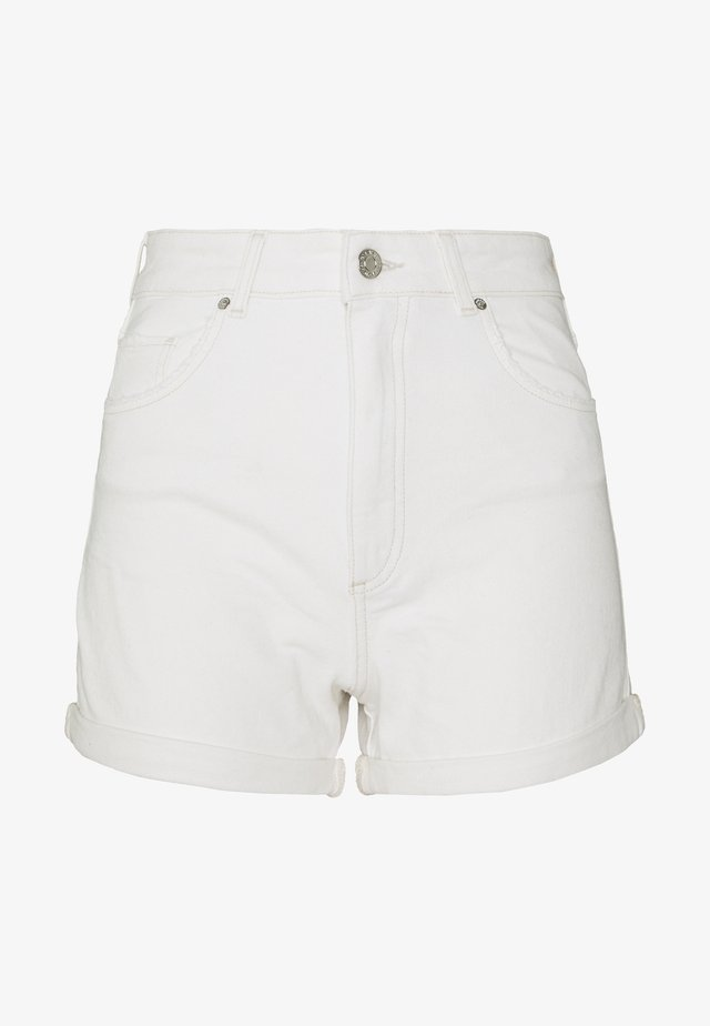 CLARA - Denim shorts - white
