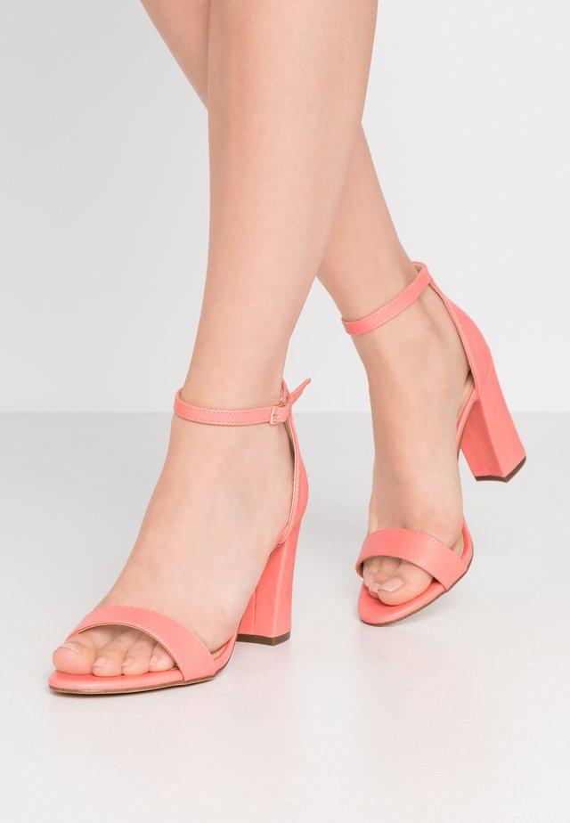 BEELLA - High heeled sandals - coral