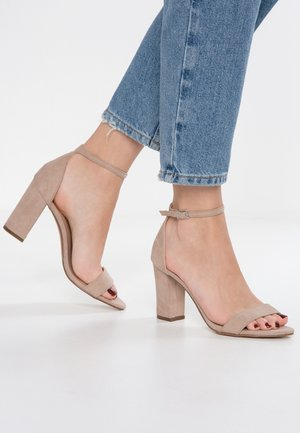 BEELLA - Sandaler med høye hæler - blush