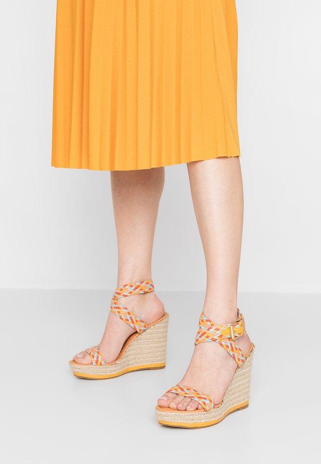 NARLA - Sandalen met hoge hak - yellow/multicolor