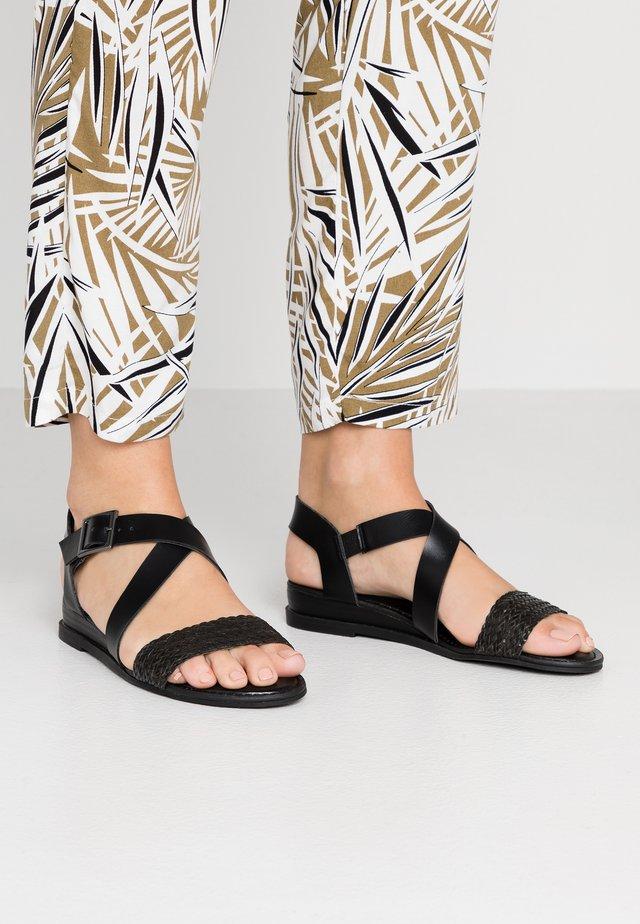 CIARA - Wedge sandals - black