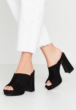 CROSSIN - Slip-ins med klack - black