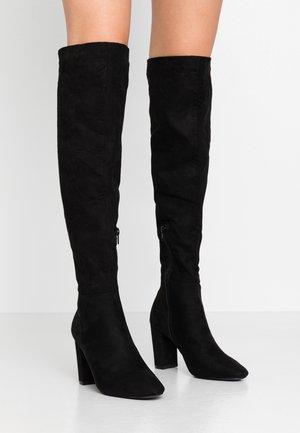 CARISS - Høye støvler - black