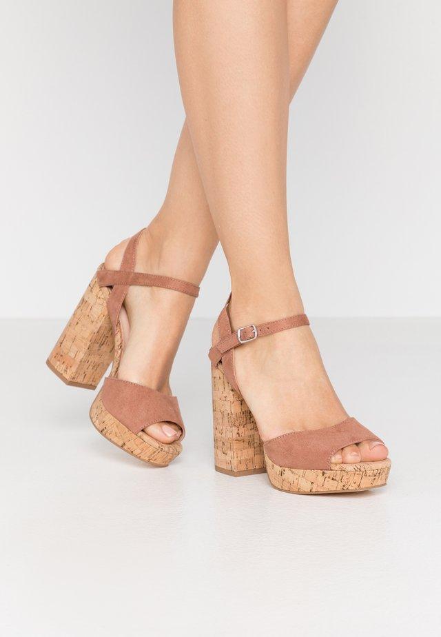 CARRY - Højhælede sandaletter / Højhælede sandaler - caramel
