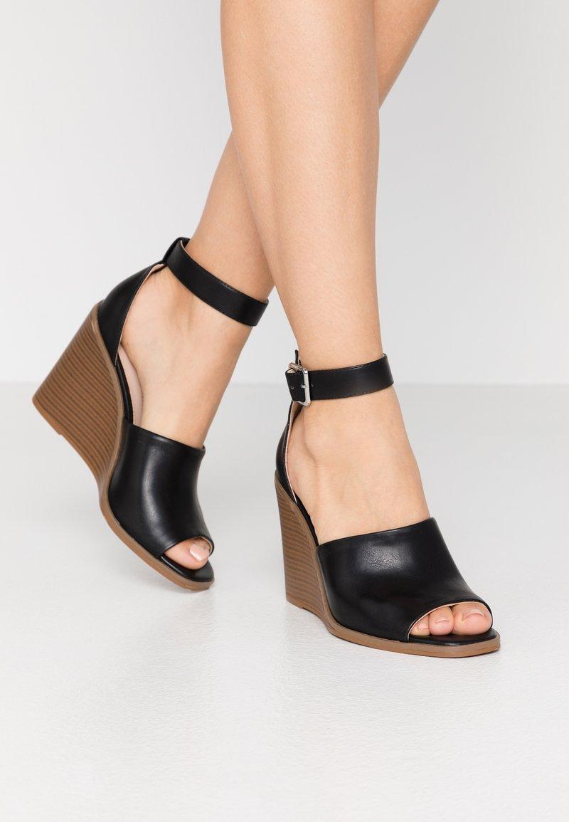 Madden Girl - GARLAND - Højhælede sandaletter / Højhælede sandaler - black paris